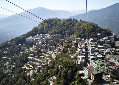 Gangtok from Ropeway