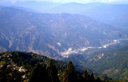 View from Dello, Kalimpong