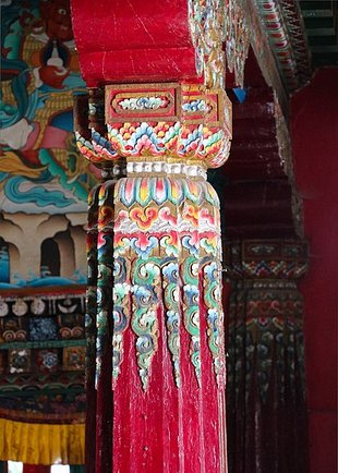 Pillar at Enchey Monastery