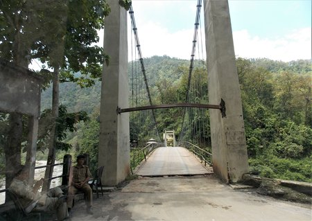 Entry to Rangbhang river bridge